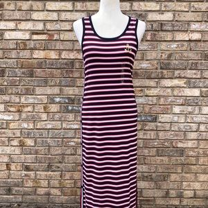 Tommy Hilfiger red/white/blue maxi dress, S, NWT